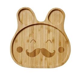 """Assiette bambou """"Happy Face"""" modèle garçon , marque Rice"""