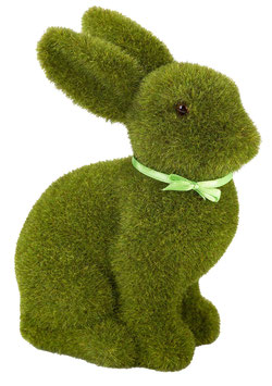 Lapin vert décoratif imitation gazon