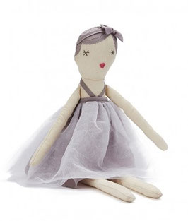 Poupée Molly Polly robe grise
