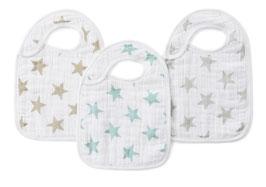 Pack de 3 bavoirs Aden & Anais étoiles pastels Star dust