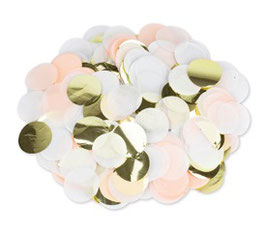 Confettis Dorés, Ivoires, Pêche 3cms