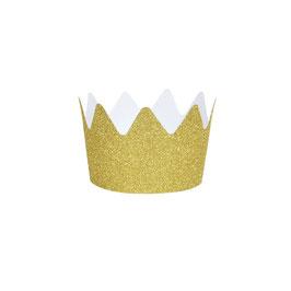 8 couronnes paillettes dorées