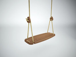 Balançoire Classic enfant plateau bois et corde beige