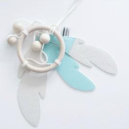 Dreamcatcher- Attrape rêve vert menthe et blanc Bisou de lou