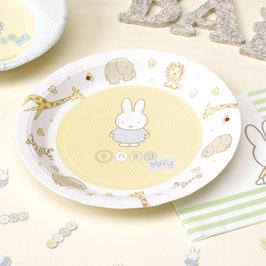 8 assiettes en carton anniversaire Miffy