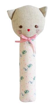 Hochet droit chat Kitty avec fleurs Alimrose