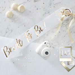 "Echarpe de future mariée "" Bride to be "" pour evjf"