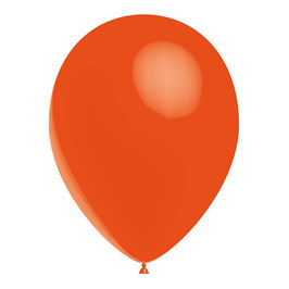 10 ballons oranges en latex