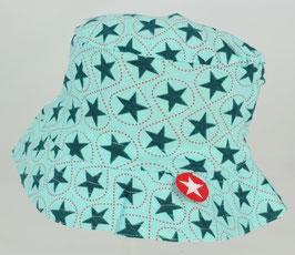 chapeau fond turquoise étoiles vert foncé Kik kid