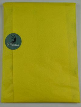 Emballage cadeau papier de soie couleur jaune citron