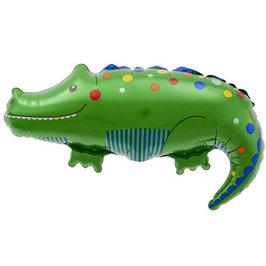 Petit ballon métallique crocodile