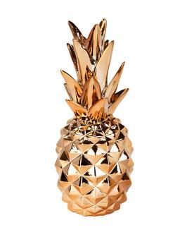 Ananas décoratif rose doré hauteur 25cms