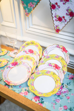 12 petites assiettes liberty tea time