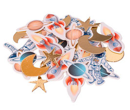 100 Confettis de Table Espace, Astronaute