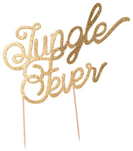 Cake Topper Jungle Fever Paillettes Dorées