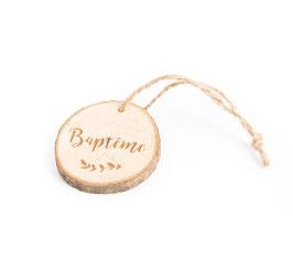 4 rondins de bois écriture Baptême