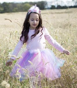 Déguisement Licorne Fille :Tutu Pastel, Serre Tête