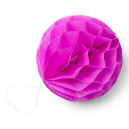 8 petites boules papier alvéolées rose fuchsia 10cms
