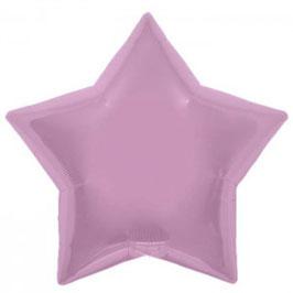 Ballon métallique étoile rose pastel