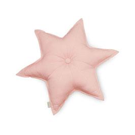 Coussin étoile vieux rose en coton biologique Cam Cam