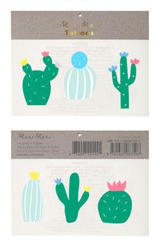 2 planches de tatouages cactus meri meri