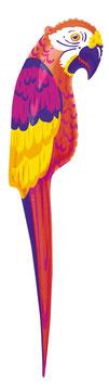 Ballon mylar perroquet géant 116 cms