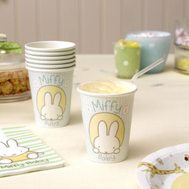 8 gobelets en carton anniversaire Miffy