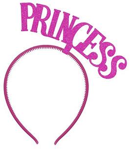 Serre Tête Princess Paillettes Fuchsias