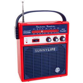 Radio Rétro marine et rouge Sunnylife
