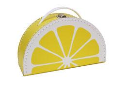 Valise en carton citron