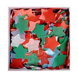 Confettis étoiles corail, bleu, vert, rouge, blanc Meri Meri