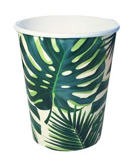 8 gobelets feuilles de palmier