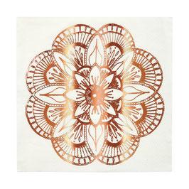 16 grandes serviettes tatouages mandala rose gold meri meri
