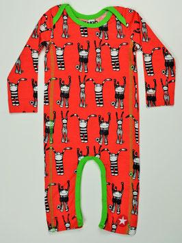 "pyjama ml fond rouge imprimé ""Puppet"" kik kid"