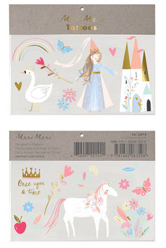 2 Planches de Tatouages Princesse Meri Meri