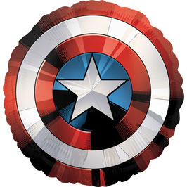 Ballon métallique Captain America diamètre 71cms