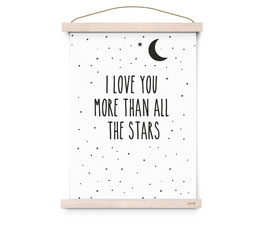 "Affiche ""I love you more than all the stars"" Eef Lillemor"