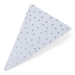 5 fanions triangles pois argent pour guirlande fanions