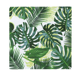 20 petites serviettes feuilles de palmier