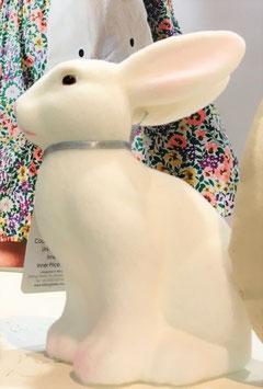 Lapin blanc décoratif toucher velours