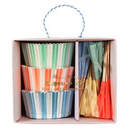 Kit cupcake pastels acidulés avec piques tassels