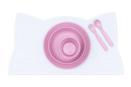 Set de table en silicone chat blanc We might be tiny