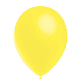 10 ballons jaune citron en latex