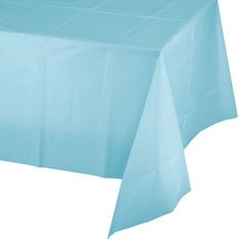 Nappe en plastique bleu pastel 137cmsX174cms