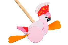 Jouet à pousser en bois oiseau de paradis Sunnylife