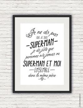 Affiche Superman format A4 Charlie's dream
