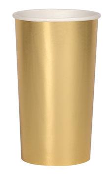8 grands gobelets dorés meri meri