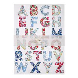 10 planches de stickers lettres alphabet Meri Meri