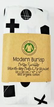 Maxi lange graphique géométrique Modern Burlap