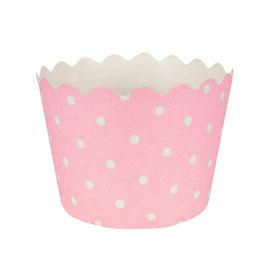 12 Petits pots à pois rose et blanc